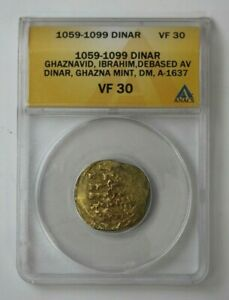 Click now to see the BUY IT NOW Price! 1059 99 GHAZNA ARAB EMPIRE GOLD DINAR A 1637 ANACS VF 30 75964JR