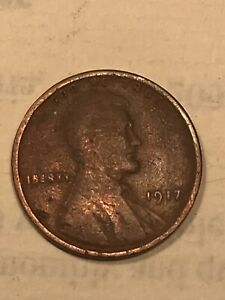 1917 P LINCOLN WHEAT CENT ERROR DDO  DOUBLE DIE OBVERSE PULLED FROM ESTATE SALE