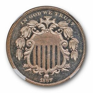 Click now to see the BUY IT NOW Price! 1867 NO RAYS SHIELD NICKEL 5C NGC PR 65 CAM CAMEO TOUGH PROOF DATE