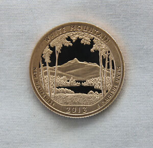 2013 S WHITE MOUNTAIN CLAD PROOF ATB QUARTER CAMEO