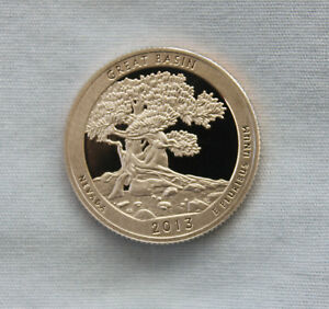 2013 S GREAT BASIN CLAD PROOF ATB QUARTER CAMEO