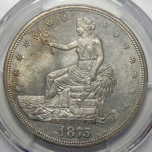 Click now to see the BUY IT NOW Price! 1875 CC PCGS MS63 OBV 1 REV 1 TRADE DOLLAR
