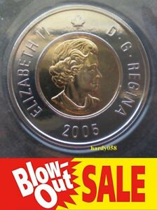 2005 2$ TOONIE  PROOF LIKE  MINT SEALED   ONLY 2.99$ EACH