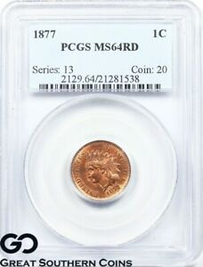 Click now to see the BUY IT NOW Price! 1877 PCGS MS 64 INDIAN HEAD PENNY MINT STATE 64 RED     KEY DATE