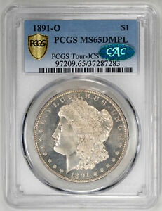 Click now to see the BUY IT NOW Price! 1891 O $1 DM MORGAN DOLLAR   PCGS MS65DMPL CAC CERTIFIED US  COIN