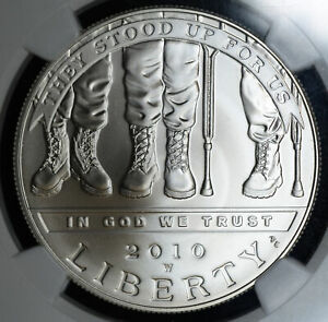 Click now to see the BUY IT NOW Price! $1 ONE DOLLAR 2010 W MS70 NGC DISABLED VETERANS SILVER COMMEMORATIVE PERFECT