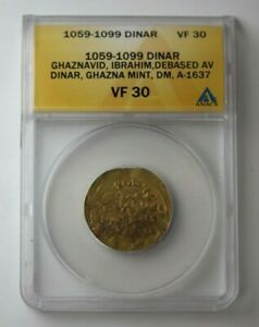 Click now to see the BUY IT NOW Price! 1059 99 ARAB EMPIRE GOLD DINAR GHAZNAVID ANACS VF 30 75964JR