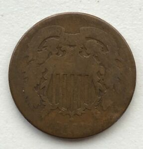 1864 2 CENT PIECE CIRCULATED CCC249