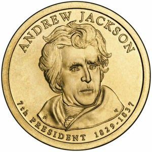 2008 D PRESIDENTIAL DOLLAR BRILLIANT UNCIRCULATED COIN US   ANDREW JACKSON