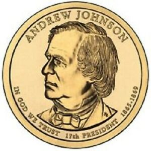 2011 D PRESIDENTIAL DOLLAR BRILLIANT UNCIRCULATED COIN US   ANDREW JOHNSON