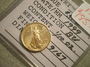 1999 1/10TH OZ. GOLD AMERICAN EAGLE  <<:RAW UNCERTIFIED:>>