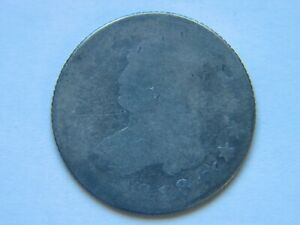 1818 25C CAPPED BUST SILVER QUARTER LARGE DIAMETER TYPE COIN  DATE