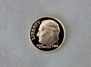 2002 S ROOSEVELT SILVER PROOF DIME CAMEO