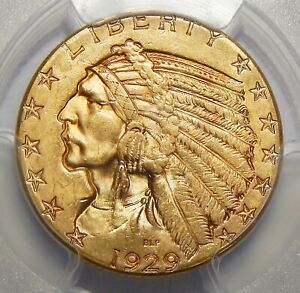Click now to see the BUY IT NOW Price! 1929 PCGS/CAC MS64  $5 INDIAN HEAD GOLD