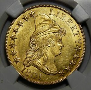 Click now to see the BUY IT NOW Price! 1801 NGC MS64 $10 DRAPED BUST GOLD