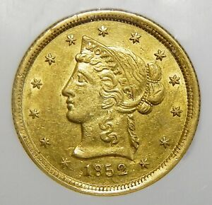 Click now to see the BUY IT NOW Price!    1852 NGC MS61 $10 MOFFAT & CO. WIDE DATE CALIFORNIA GOLD