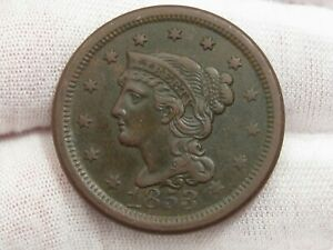 XF 1853 LARGE CENT.  19