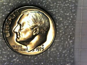 1975 D ROOSEVELT DIME BU UNCIRCULATED PULLED FROM MINT SET
