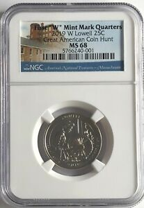Click now to see the BUY IT NOW Price! 2019 W NGC MS68 LOWELL FIRST W QUARTER GREAT AMERICAN COIN HUNT 25C WEST POINT