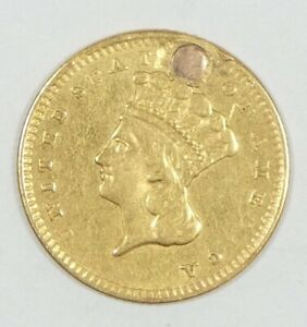 BARGAIN 1856 GOLD INDIAN PRINCESS HEAD TY 3 $1 COIN EXTRA FINE