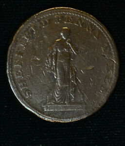 TRADE TOKEN GREAT BRITAIN YORKSHIRE 1D PENNY 1813 SHEFFIELD OVERSEERS OF POOR
