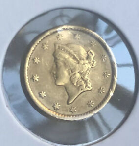 1854 US GOLD ONE DOLLAR COIN TYPE ONE CIRCULATED COLLECTOR GRADE BULLION