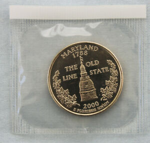 2000 P MARYLAND STATE UNCIRCULATED QUARTER IN ORIGINAL MINT  9501
