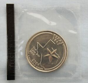 2004 D TEXAS STATE UNCIRCULATED QUARTER IN ORIGINAL MINT CELLO  9555