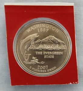 2007 D WASHINGTON STATE UNCIRCULATED QUARTER IN ORIGINAL MINT HOLDER  9558