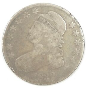 BARGAIN 1832 CAPPED BUST/LETTERED EDGE HALF DOLLAR AG SILVER 50C