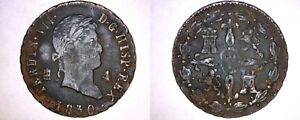 1830 SPANISH 4 MARAVEDIS WORLD COIN   SPAIN   FERDINAND VII