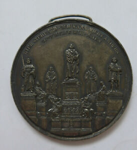 LUTHER MEDAL BOARDS DES LUTHERDENKMALS 1868