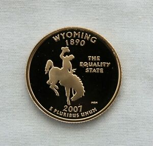 2007 S WYOMING CLAD PROOF STATE QUARTER CAMEO