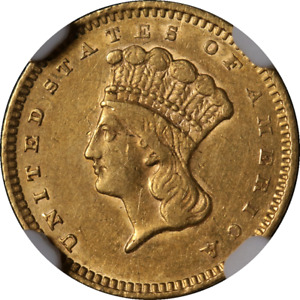 Click now to see the BUY IT NOW Price! 1859 S TYPE 3 INDIAN PRINCESS GOLD $1 NGC AU DETAILS DECENT EYE APPEAL