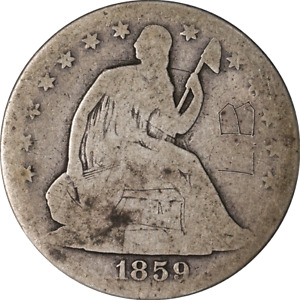 1859 O SEATED HALF DOLLAR GREAT DEALS FROM THE EXECUTIVE COIN COMPANY   BBHE6252