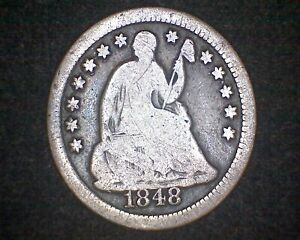 1848 O SEATED LIBERTY SILVER HALF DIME 19212