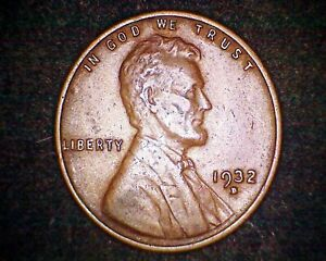 1932 D LINCOLN WHEAT CENT 19287