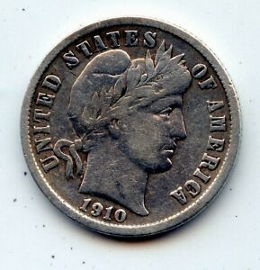 1910 D BARBER DIME  SEE PROMO
