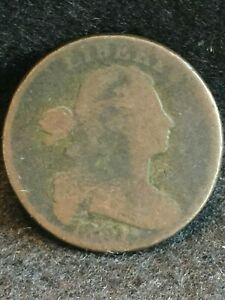1801 DRAPED BUST LARGE CENT S 224 TERMINAL DIE STATE WITH REVERSE CUD