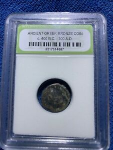 ANCIENT GREEK BRONZE COIN C. 400 BC 300A.D