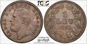 Click now to see the BUY IT NOW Price! ROMANIA 1 LEU 1870 C MS64 PCGS SILVER KM6  CONDITION TONED COIN ALIGN