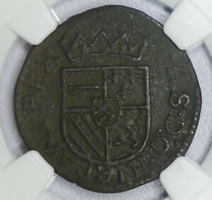 Click now to see the BUY IT NOW Price! NETHERLANDS UTRECHT 1 LIARD 1579 VF DETAILS NGC PHILLIP II 1L  SPANISH R9