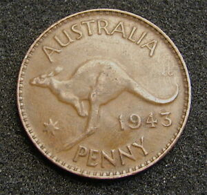 1943      AUSTRALIAN ONE PENNY COIN   WW2 ISSUE