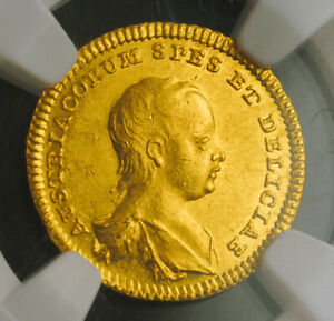 Click now to see the BUY IT NOW Price! 1741 MARIA THERESA. BIRTH OF ARCHDUKE JOSEPH. GOLD  DUCAT COIN. NGC MS 62