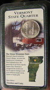 2001 D VERMONT STATE QUARTER   ORIGINAL PACKAGE