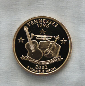 2002 S TENNESSEE CLAD PROOF STATE QUARTER