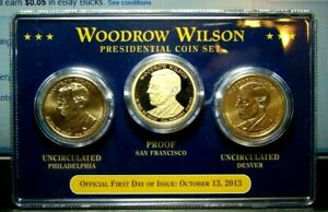 WOODROW WILSON  PRESIDENTIAL COIN SET   FIRST DAY OF ISSUE 10 13 2013 NEVER OPEN