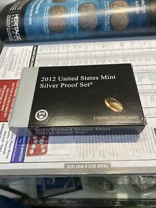 2012 S UNITED STATES MINT SILVER PROOF SET 14 COINS W/ COA & BOX KEY DATE