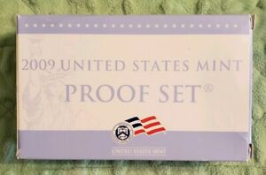 2009 UNITED STATES MINT PROOF SET 18 COINS COMPLETE WITH BOX & COA 584