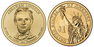 2010 D ABRAHAM LINCOLN PRESIDENTIAL ONE DOLLAR COIN FROM U.S. MINT MONEY COINS